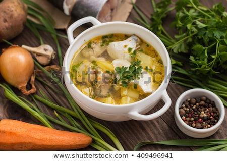 delicious fresh-soup from fish Stock photo © olira