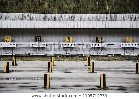 Biathlon firing line Stock photo © olira