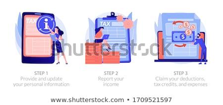 Adó könyvelés folyamat folyamatábra vektor metaforák Stock fotó © RAStudio