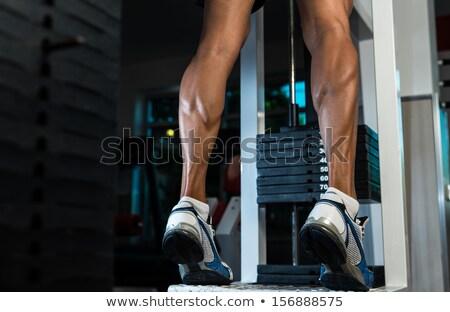 Trem pernas homem ginásio exercer Foto stock © Jasminko