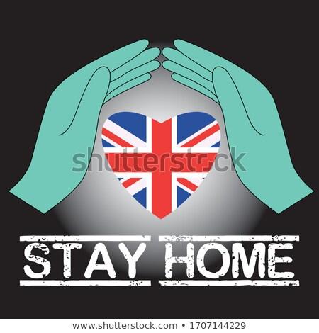 Büyük Britanya bayrak el beyaz arka plan imzalamak Stok fotoğraf © butenkow