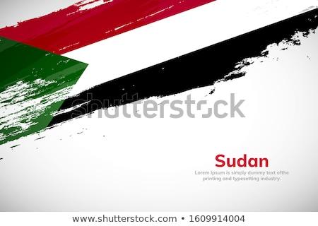 Sudan banderą strony biały podpisania wolności Zdjęcia stock © butenkow
