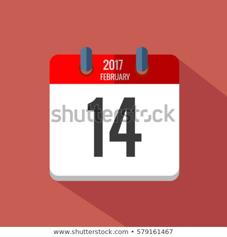 Simple black calendar icon with 10 february date isolated on white Stock photo © evgeny89