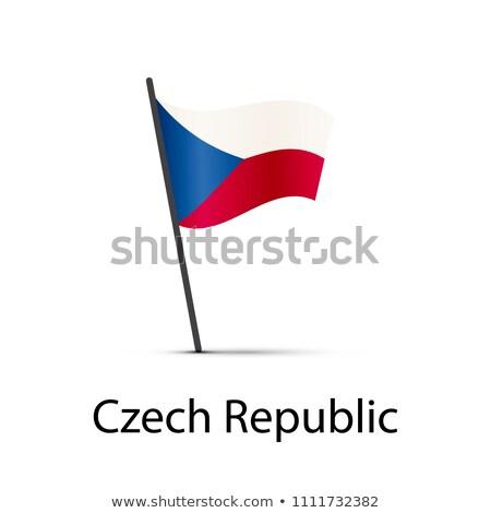 Чешская республика флаг полюс элемент белый Сток-фото © evgeny89
