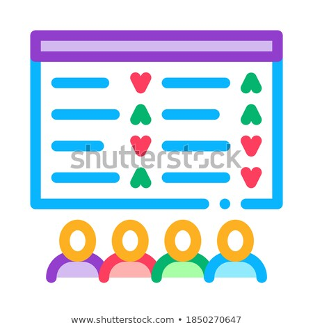 table sellers buyers and people icon vector illustration Stock photo © pikepicture