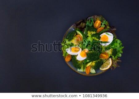 черный продовольствие здорового органический спаржа помидоры черри Сток-фото © DenisMArt