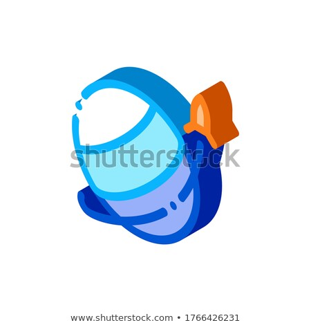 Rocket Fly Round Planet isometric icon vector illustration Stock photo © pikepicture