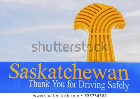Saskatchewan autópálya tábla magas döntés grafikus felhő Stock fotó © kbuntu
