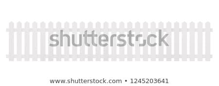 Witte hek woon- afstand hemel Stockfoto © bobkeenan