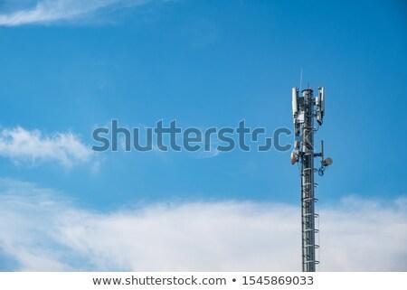 Comunicação antena torre satélite pratos blue sky Foto stock © CaptureLight