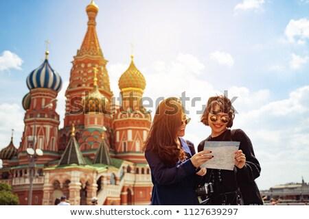 Turisták néz katedrális templom történelem emberi Stock fotó © Paha_L