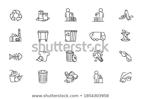 modern · újrahasznosít · valósághű · izolált · fehér · felirat - stock fotó © get4net