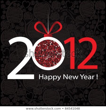 Новый год 2012 стороны увеличительное стекло знак Сток-фото © jamdesign