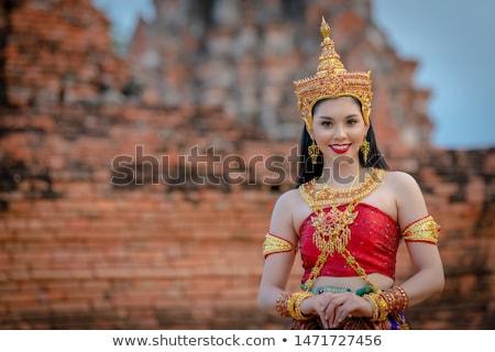 plemię · ubrania · tradycyjny · Tajlandia · tekstury · projektu - zdjęcia stock © smithore