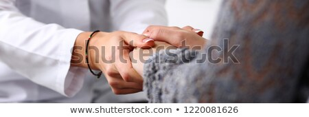 Female doctor holding patients results stock photo © photography33