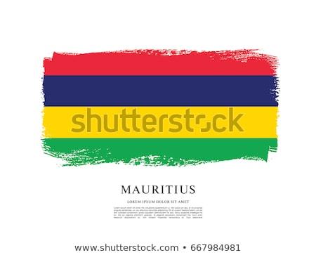 Гранж флаг Маврикий старые Vintage гранж текстур Сток-фото © HypnoCreative