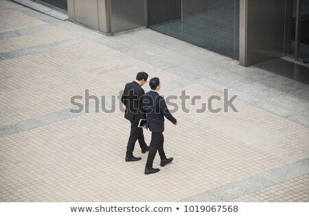 high angle view of two workers stock photo © photography33