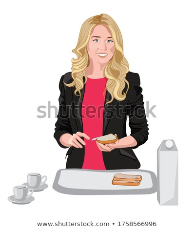 blonde spreading milk on hand stock photo © photography33