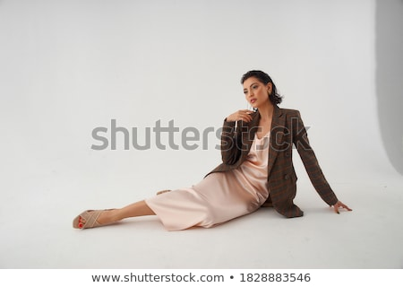 brunet woman in brown dress  Stock photo © marylooo