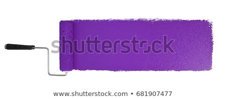 Lila festék tekert fehér munka tárgy Stock fotó © nmarques74