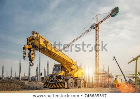 Construction crane equipment Stock photo © njnightsky