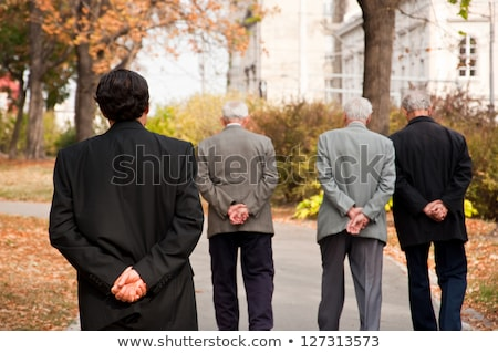 Grey-haired man thinking back on his life Stock photo © photography33