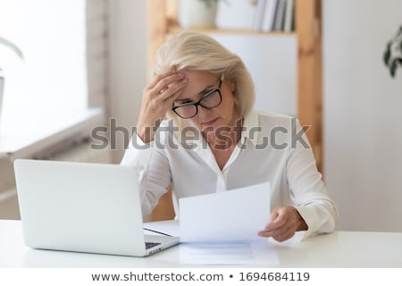 Stock photo: Disappointed business woman