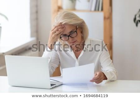 Deluso donna d'affari sfondo executive corporate Foto d'archivio © Elisanth