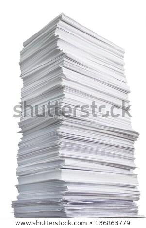 Card Heap Against The White Background Stok fotoğraf © Epitavi