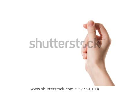 Eller kâğıt yalıtılmış beyaz Stok fotoğraf © ongap