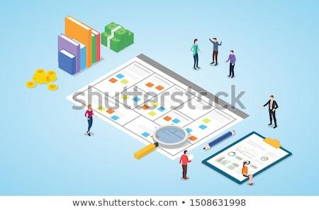 vetor · planejamento · diagrama · trabalhar · projeto · tecnologia - foto stock © orson