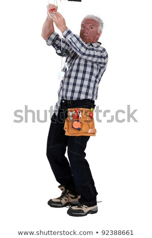 Schok industrie werknemer zwarte energie Stockfoto © photography33