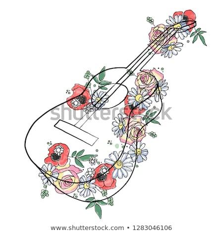 abstrato · floral · arco-íris · aviador · modelo · lugar - foto stock © pathakdesigner