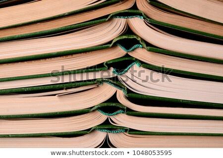 retkes · öreg · zöld · könyv · izolált · fehér - stock fotó © dmitry_rukhlenko