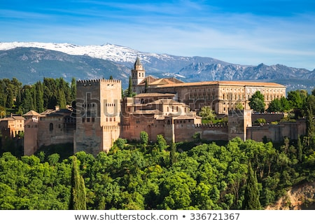Alcazaba of Alhambra, Granada, Spain Stock photo © neirfy