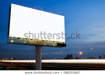 billboard · tekst · bewolkt · hemel · wolken · abstract - stockfoto © broker