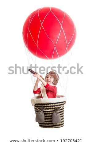 Zdjęcia stock: Happy Smiling Air Balloon On White Background