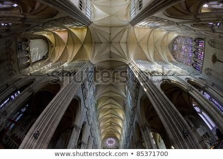 Interni cattedrale Francia costruzione architettura Foto d'archivio © phbcz