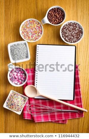 ricetta · libro · varietà · candy · compleanno · torta - foto d'archivio © jirkaejc