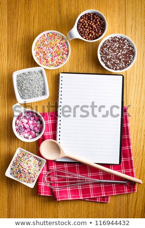 receta · libro · variedad · dulces · cumpleanos · torta - foto stock © jirkaejc