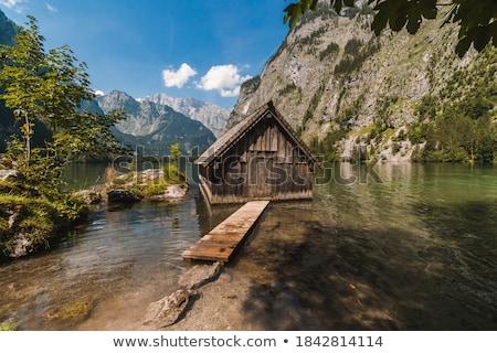 湖 空 太陽 山 山 ストックフォト © nailiaschwarz