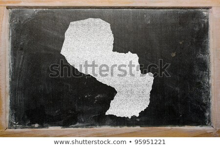 Outline Map Of Paraguay On Blackboard Foto stock © vepar5