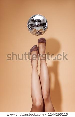 party girl with disco ball Stock photo © dolgachov