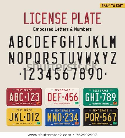 Licenc tányérok európai különböző színek autó Stock fotó © marekusz