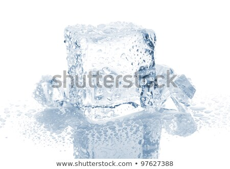 Stock photo: Big group ice cubes
