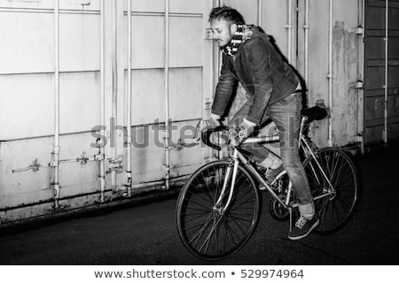 Fixed gear bicycle rider Stock photo © krabata