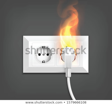 burned power outlet Stock photo © taviphoto