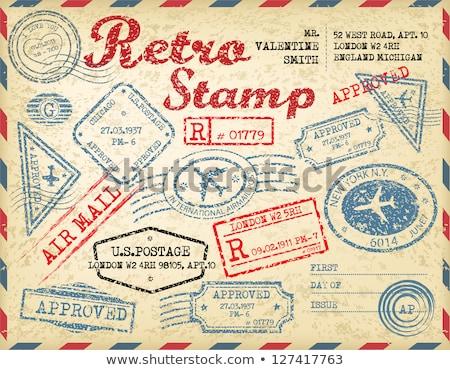 rubber stamps on envelope stock photo © suljo