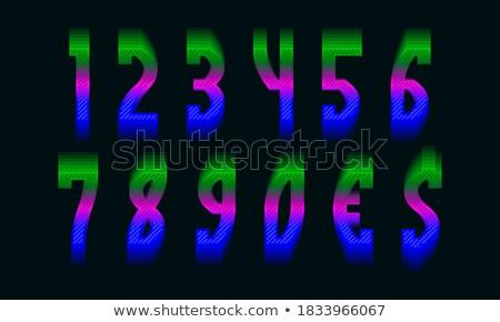 Vektor felirat virág üveg hálózat háló Stock fotó © butenkow