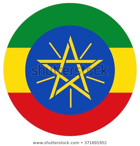 Przycisk Etiopia Pokaż banderą kraju polityka Zdjęcia stock © Ustofre9